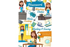 Housework and housekeeping