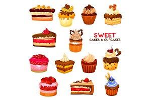 Cake and cupcake desserts