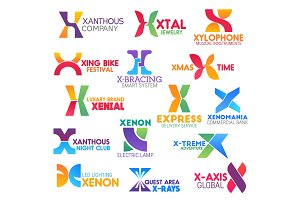 Letter X icons or symbols