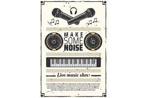 Music show retro poster
