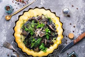 Autumn mushroom pie