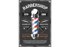 Barbershop, old razor for shaving