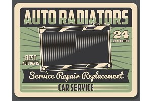 Car repair service, radiator