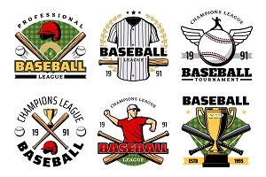 Baseball sport game icons