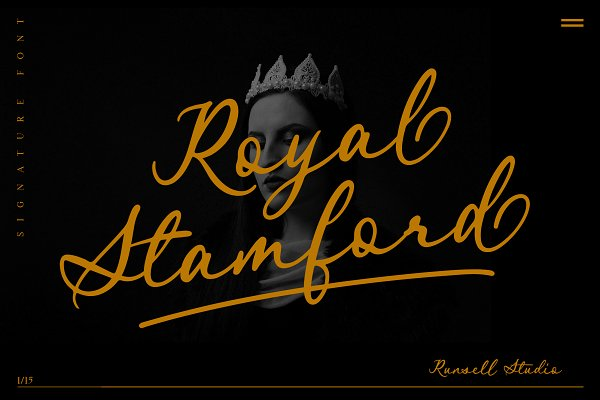 Script Fonts: Runsell Studio - Royal Stamford (20% OFF)