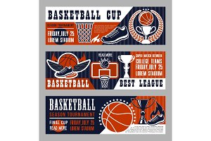 Basketball sport game banners