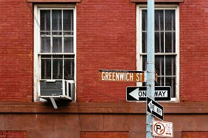 Greenwich Street road sign in