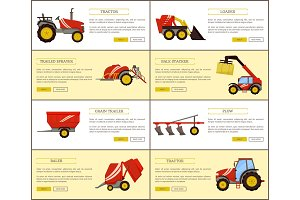 Tractor and Loader Posters Set