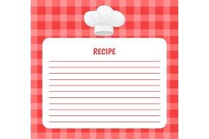 Recipe Chef Hat Icon Notebook Vector
