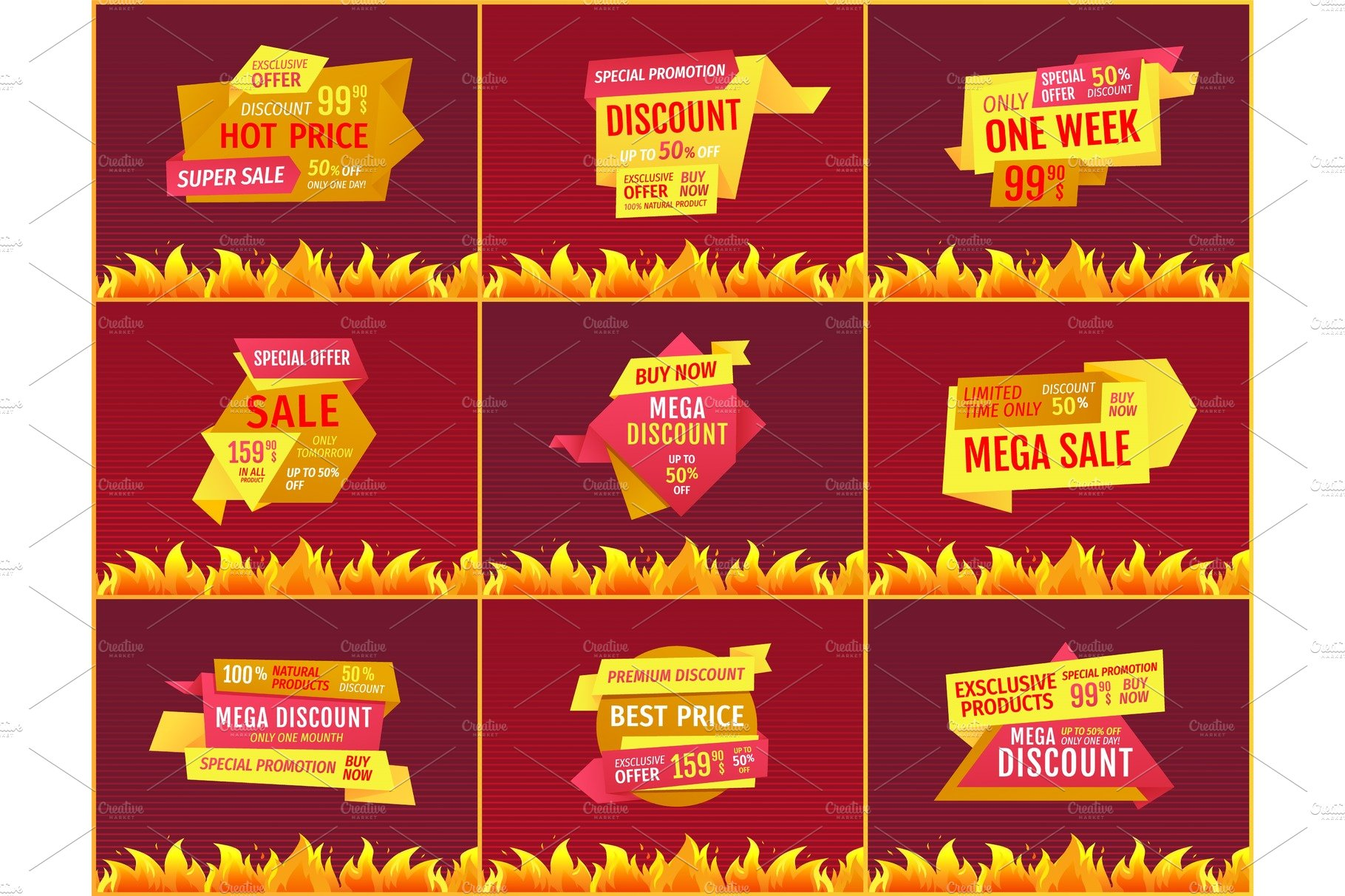 d5b22e2303640 Mega Sale Offers on Geometric Shape ~ Illustrations ~ Creative Market