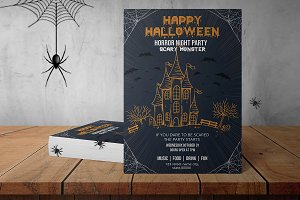 Halloween Party Flyer - V867