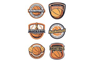 Basketball sport game icons
