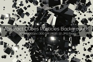 Abstract Cubes Particles Backgrounds
