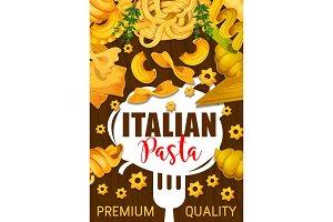 Italian pasta with garnish