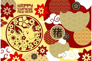 Chinese New Year festive card