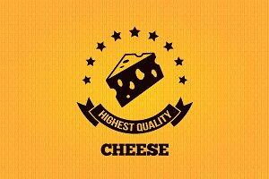 Cheese vintage label design