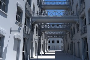 3D Alleyway 1