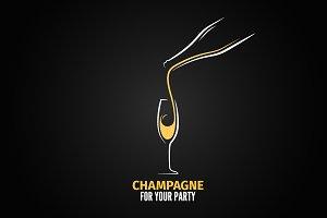 Champagne glass bottle design