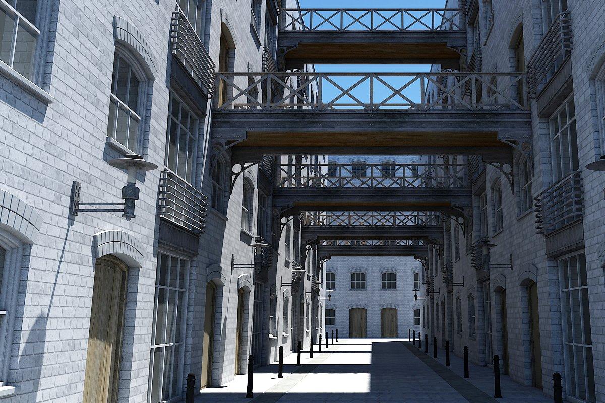 3D Alleyway Textured