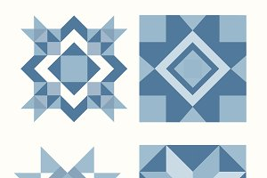 Blue Christmas tiles design vector