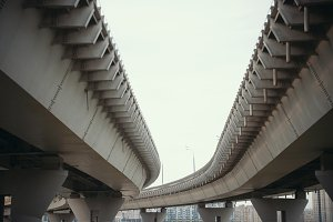 Road-bridges with columns on the