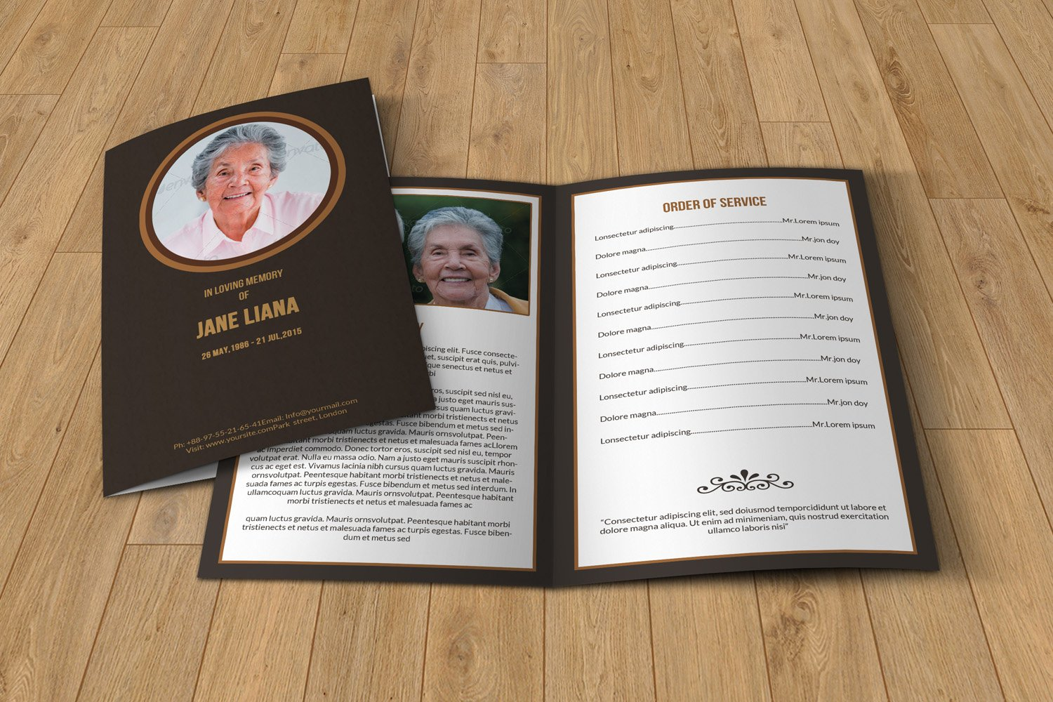 Funeral programs template free Photos Graphics Fonts Themes – Funeral Template Free