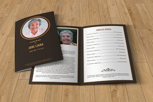 Funeral program template-T130