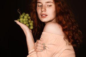 attractive seductive redhead woman h