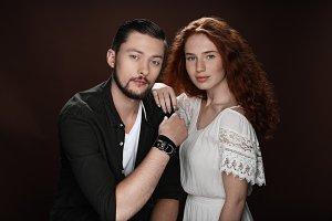 redhead girlfriend and bearded boyfr