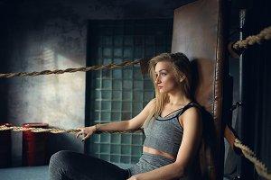 Stylish blonde girl in her twenties