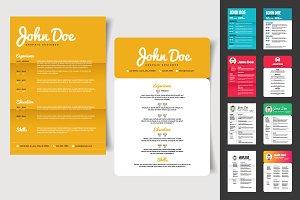 10 Minimalist CV Resume Templates