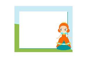 Princess frame for kids design