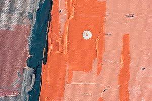 orange brush strokes on abstract art