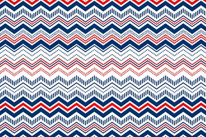 Blue and red texture chevron pattern
