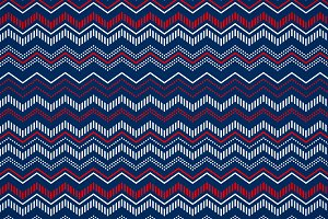 Blue red and white chevron pattern