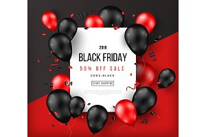 Black Friday Sale with Frame