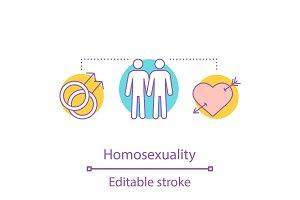 Homosexuality concept icon