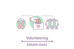Volunteering concept icon