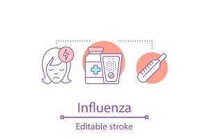 Influenza concept icon