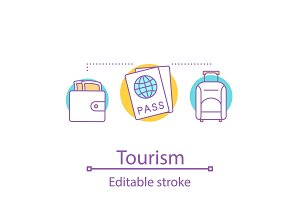 Going on trip concept icon