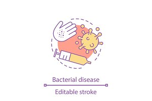 Bacterial disease concept icon