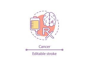 Cancer concept icon