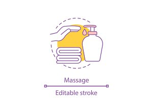 Massage concept icon