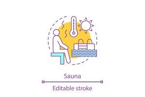 Sauna concept icon