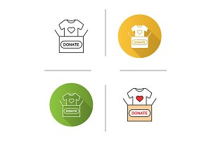Clothes donating icon