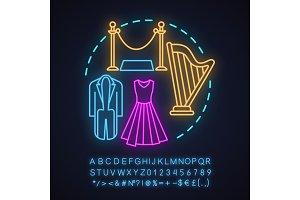 Theater neon light concept icon