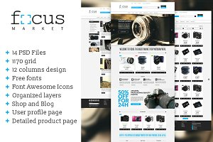 Focus Market - One page PSD template