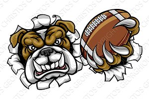 Bulldog American Football Sports