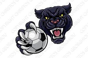 Black Panther Holding Soccer Ball