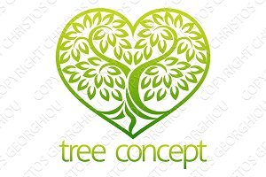 Tree Icon Concept Heart